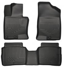 Husky Liners Weatherbeater Black Front & 2nd Seat Floor Liners Kia Optima 2011-2014