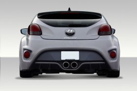 2012-2014 Hyundai Veloster Duraflex Turbo Look Rear Bumper Cover - 1 Piece