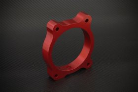 Torque Solution Red Throttle Body Spacer Genesis Coupe 3.8 2010 -2012