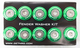 NRG 10 PIECE FENDER WASHER KIT - GREEN