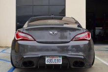 Vis Racing VIP TYPE 2 Carbon Fiber Rear Diffuser 2010 - 2016 Hyundai Genesis Coupe