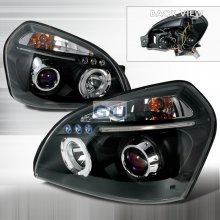 Spec-D HALO LED PROJECTOR BLACK FOR 2004 TO 2007 HYUNDAI TUCSON