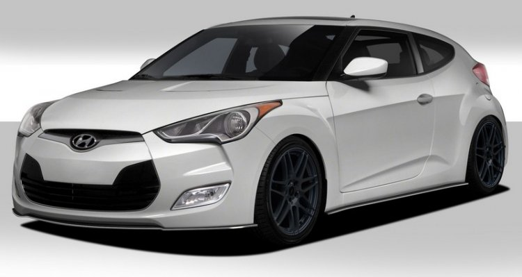 2012-2014 Hyundai Veloster Duraflex GT Racing Body Kit - 5 Piece - Click Image to Close