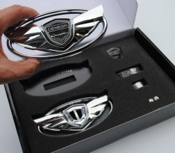 The Art of Speed Genesis Coupe Wing Emblem Set - Chrome
