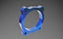 Torque Solution Blue Throttle Body Spacer Genesis Coupe 3.8L 2013 - 2015