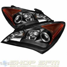 Spyder Headlights with Angel Eyes -Black 2010 - 2012 Genesis Coupe