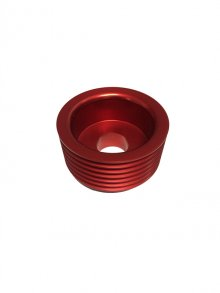 Torque Solution Lightweight Alternator Pulley Genesis Coupe 3.8 2010 - 2013+ (Red)