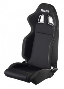Sparco R100 Reclinbale Racing Seat Black Cloth