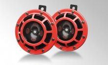 Hella Supertones 118dB Universal Horns - Red