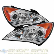 Hyundai Genesis Coupe Spyder Headlights with Angel Eyes -Chrome