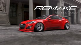 Remake Widebody Front and Rear Flares Genesis Coupe 2013 - 2015