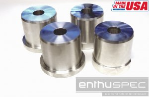 ENTHUSPEC SOLID REAR SUB FRAME RISERS Genesis Coupe 2010 - 2015