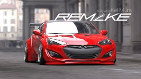 Remake Widebody Rear Flares Genesis Coupe 2013 - 2015