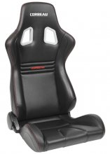 Corbeau Sportline Evolution Reclinable Seat in Black Carbon Vinyl - PAIR