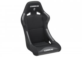 Forza Fixed Back Racing Seat Black Cloth