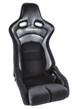 Corbeau Sportline RRB Reclinable Seat in Black Carbon Vinyl