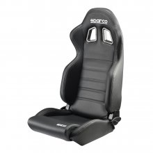 Sparco R100 Reclinbale Racing Seat Black Vinyl