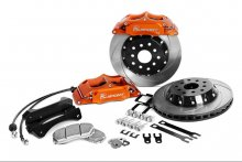 "KSPORT REAR SUPERCOMP 15.7"" 8 PISTON BIG BRAKE KIT FOR 2010 - 2014 GENESIS COUPE"