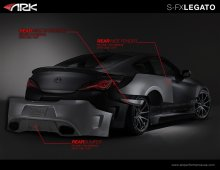 Ark S-FX LEGATO REAR OVER FENDERS & Rear Wide Extension Genesis Coupe 2010 - 2016