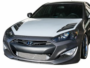 RK Sport Extractor Hood with Carbon Fiber Vents 2013+ Hyundai Genesis Coupe