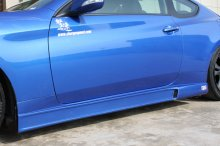 Charge speed Fiberglass Side Skirts 2010 - 2013+ Genesis Coupe