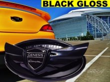 "Genesis Coupe Wing Emblem Set ""The Art Of Speed"" - Gloss Black"