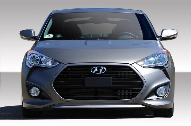 2012-2014 Hyundai Veloster Duraflex Turbo Look Front Bumper Cover - 1 Piece - Click Image to Close