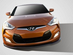 2012-2014 Hyundai Veloster Carbon Creations GT Racing Front Splitter - 1 Piece