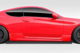 Extreme Dimensions AM-S GT Duraflex Side Skirts 2010 - 2015 Genesis Coupe