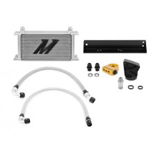 Mishimoto Silver Oil Cooler Kit 2010-2012 Genesis Coupe 3.8 V6 Thermostatic