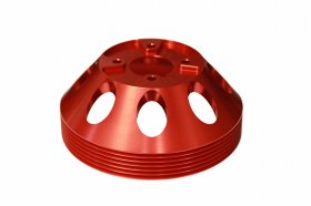 Torque Solution Lightweight Waterpump Pulley Genesis Coupe 3.8 2010 - 2016 (Red)