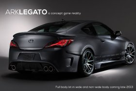 Ark S-FX Legato Rear Wide Body Kit Genesis Coupe 2010 - 2015
