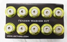 NRG 10 PIECE FENDER WASHER KIT - LIGHT GREEN