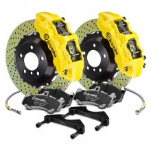 Brembo Grand Turismo Yellow Front Big Brake Kit Genesis Coupe 2010 - 2016