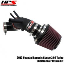 HPS Shortram Intake 2013 Genesis Coupe 2.0T Turbo - Wrinkle Black