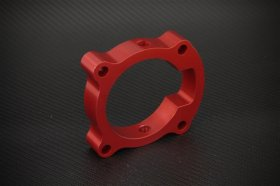 Torque Solution Red Throttle Body Spacer Genesis Coupe 2.0T 2010+