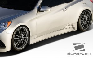 Extreme Dimensions Duraflex J-Spec Side Skirts 2010 - 2016+ Genesis Coupe