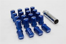 SSR GT Forged Aluminum 35mm Closed End M12x1.5 Lug Nut Set - Blue