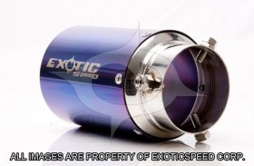 ExoticSpeed 115mm Universal (Type D) Bolt-on style EXHAUST TIPS