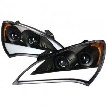 Spec-D Black Sequential Projector Headlights Genesis Coupe 2010 - 2012