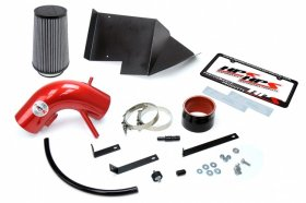 HPS Red Shortram Air Intake Heat Shield Genesis Coupe 3.8L V6 2013 - 2016