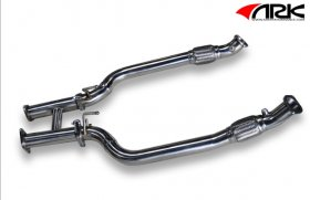 Ark Performance Down Pipes with H-test pipe Genesis Coupe 3.8 2013+
