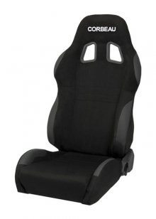 Corbeau A4 Reclinable Seat in Black Microsuede - PAIR