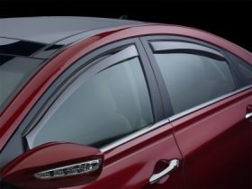 WeatherTech Front and Rear Side Window Deflectors-Light Smoke Kia Optima 2011+