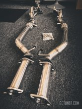 J2 ENGINEERING EXHAUST HEADER DOWNPIPE TESTPIPE COMBO 3.8 2010 - 2016 GENESIS COUPE