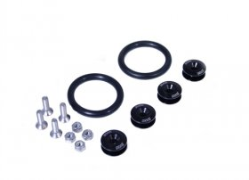 BLACKWORKS QUICK RELEASE FASTENERS SET - BLACK