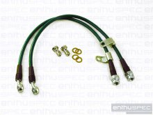 ENTHUSPEC FRONT STAINLESS STEEL BRAIDED BRAKE LINES 2010 - 2014 GENESIS COUPE