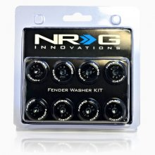 NRG 10 PIECE FENDER WASHER KIT - BLACK