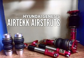 AirTekk Struts and bags 2010 - 2016 Genesis Coupe