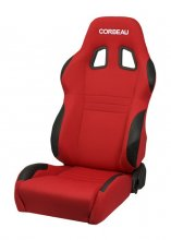 Corbeau A4 Reclinable Seat in Red Cloth - PAIR